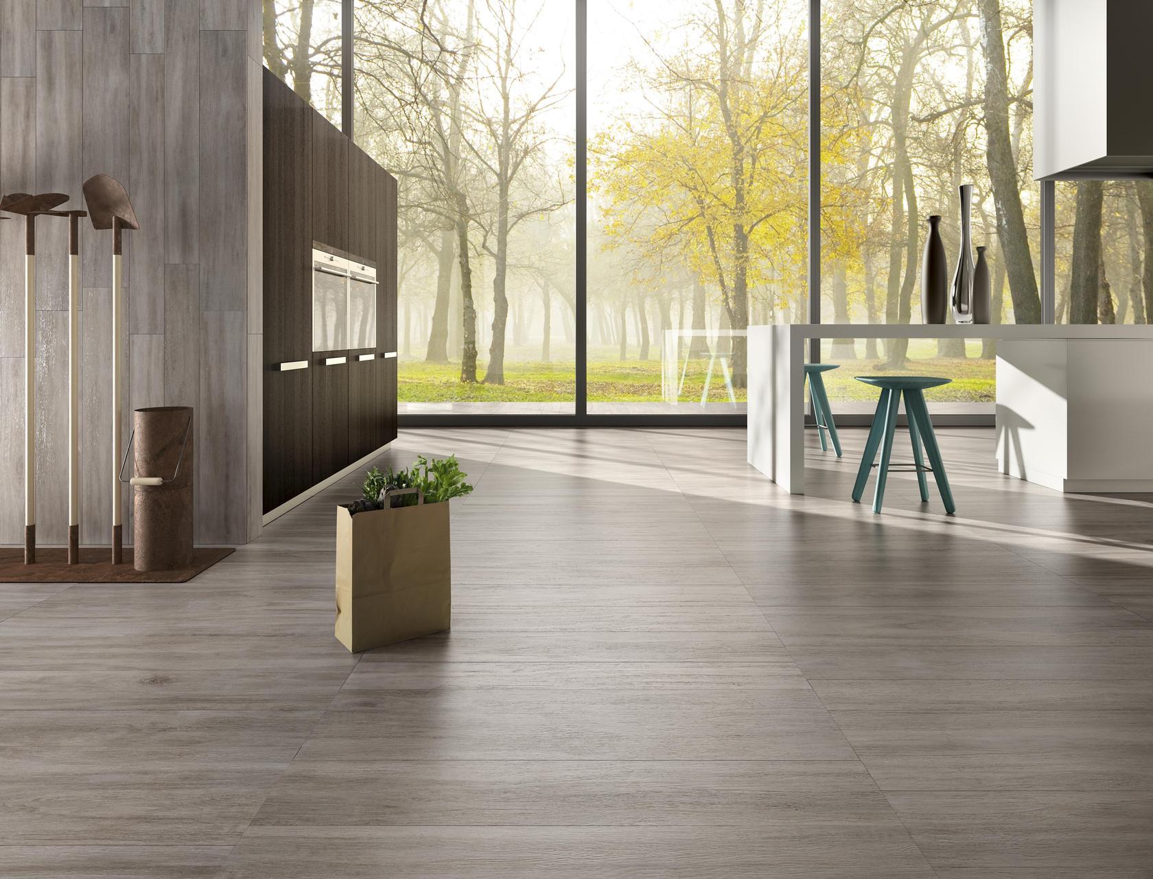 Pavimento per esterni effetto legno rovere cenere for Gres porcellanato effetto legno grigio