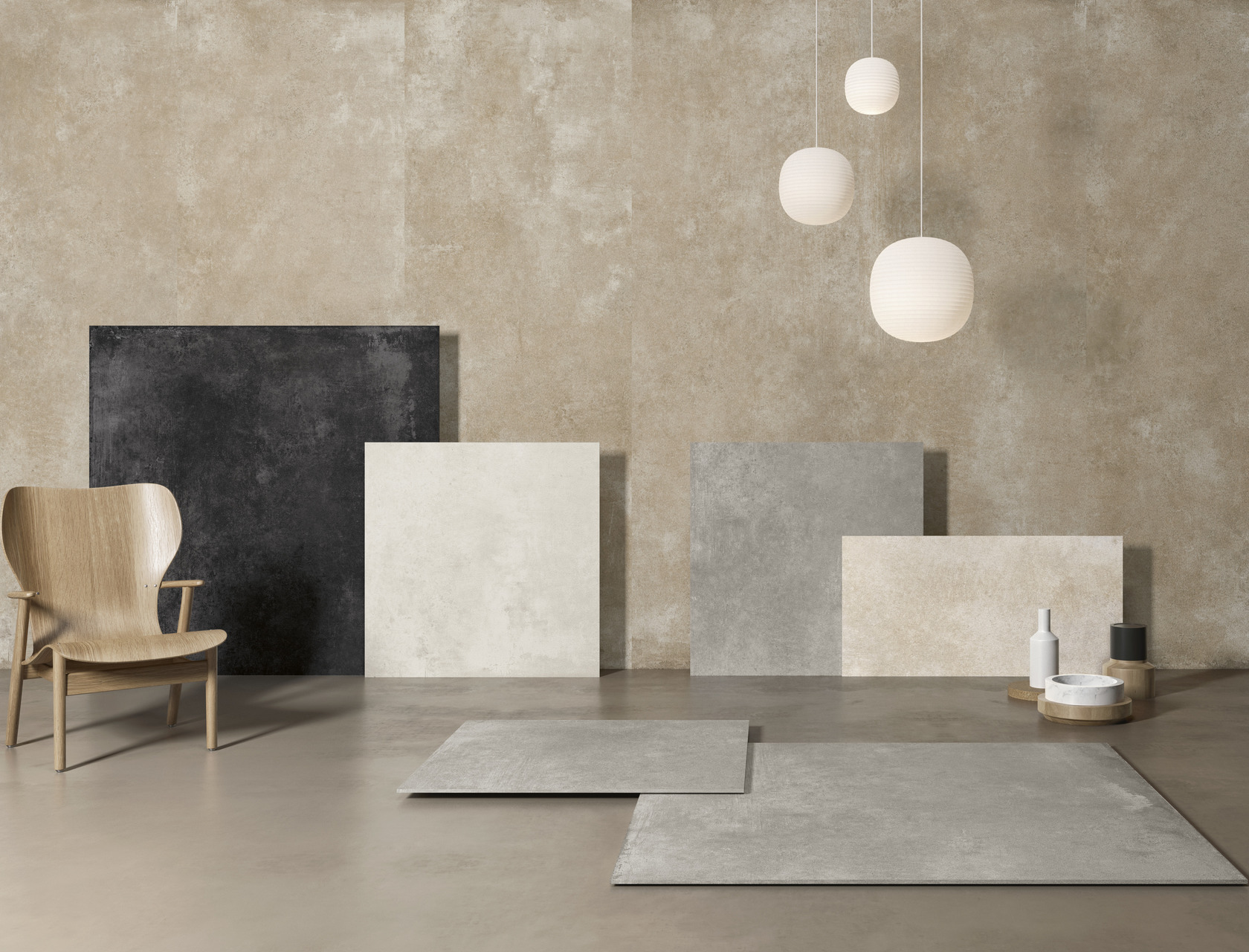Con.crea. piastrelle per pavimento effetto cemento resina in gres