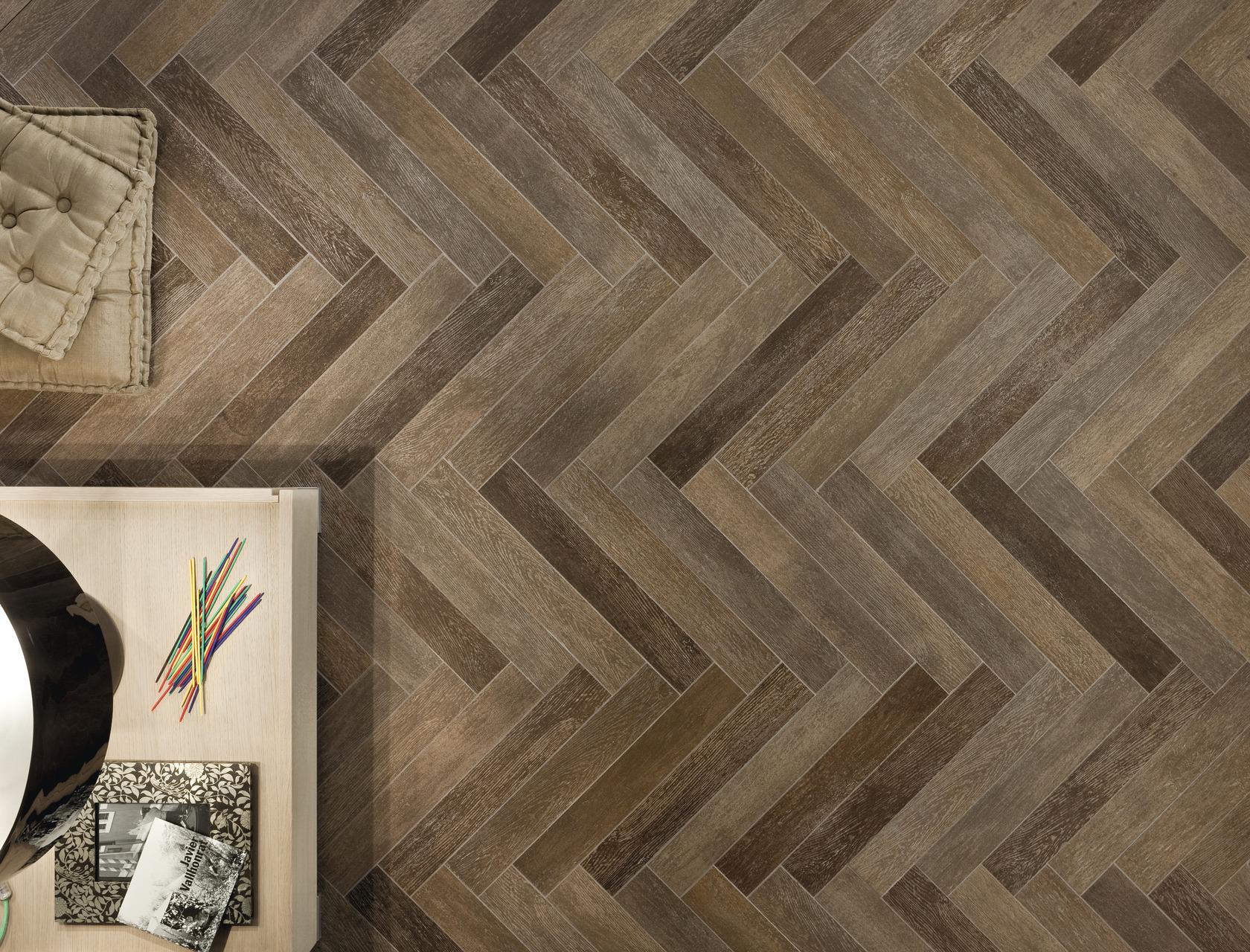 Gres effetto legno scuro per interni esterni rovere moka for Schemi di posa gres porcellanato effetto legno