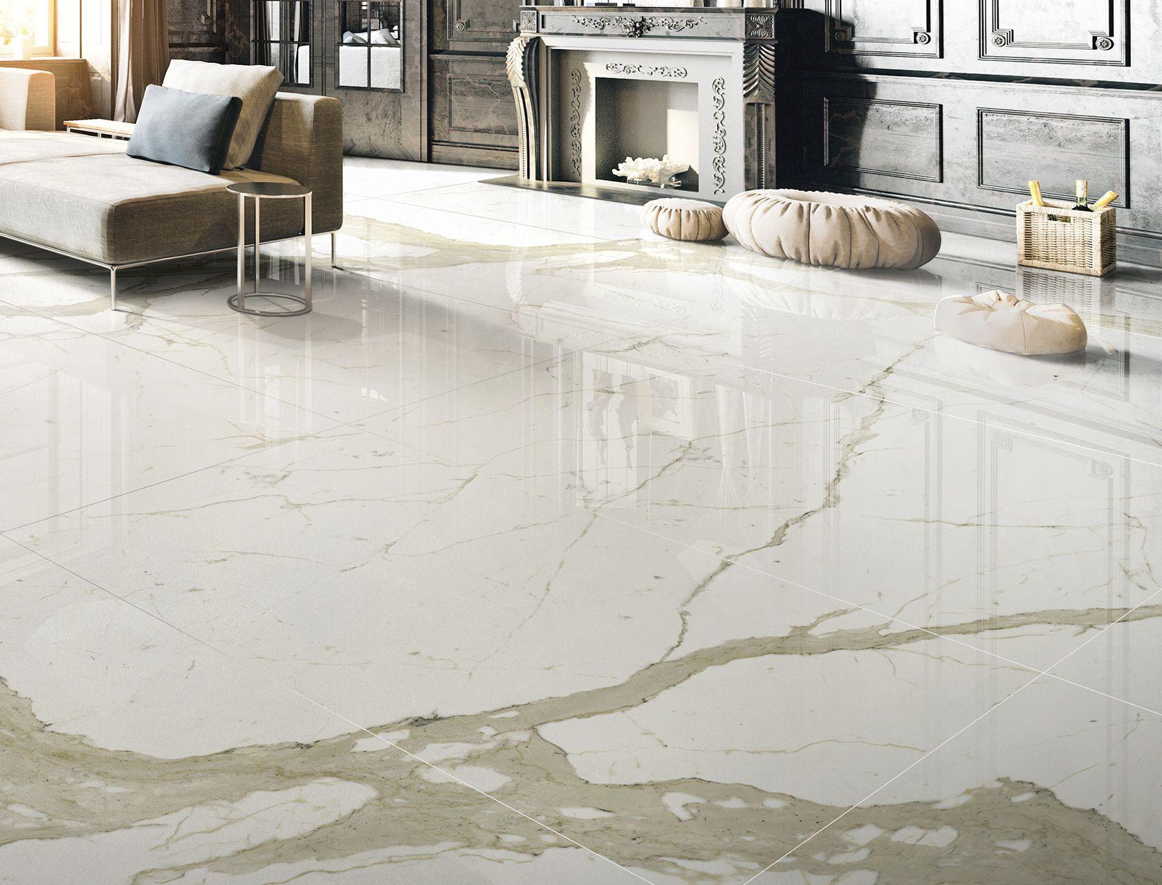 Bianco calacatta marmi cento2cento pavimenti e rivestimenti effetto marmo bianco - Piastrelle di marmo ...