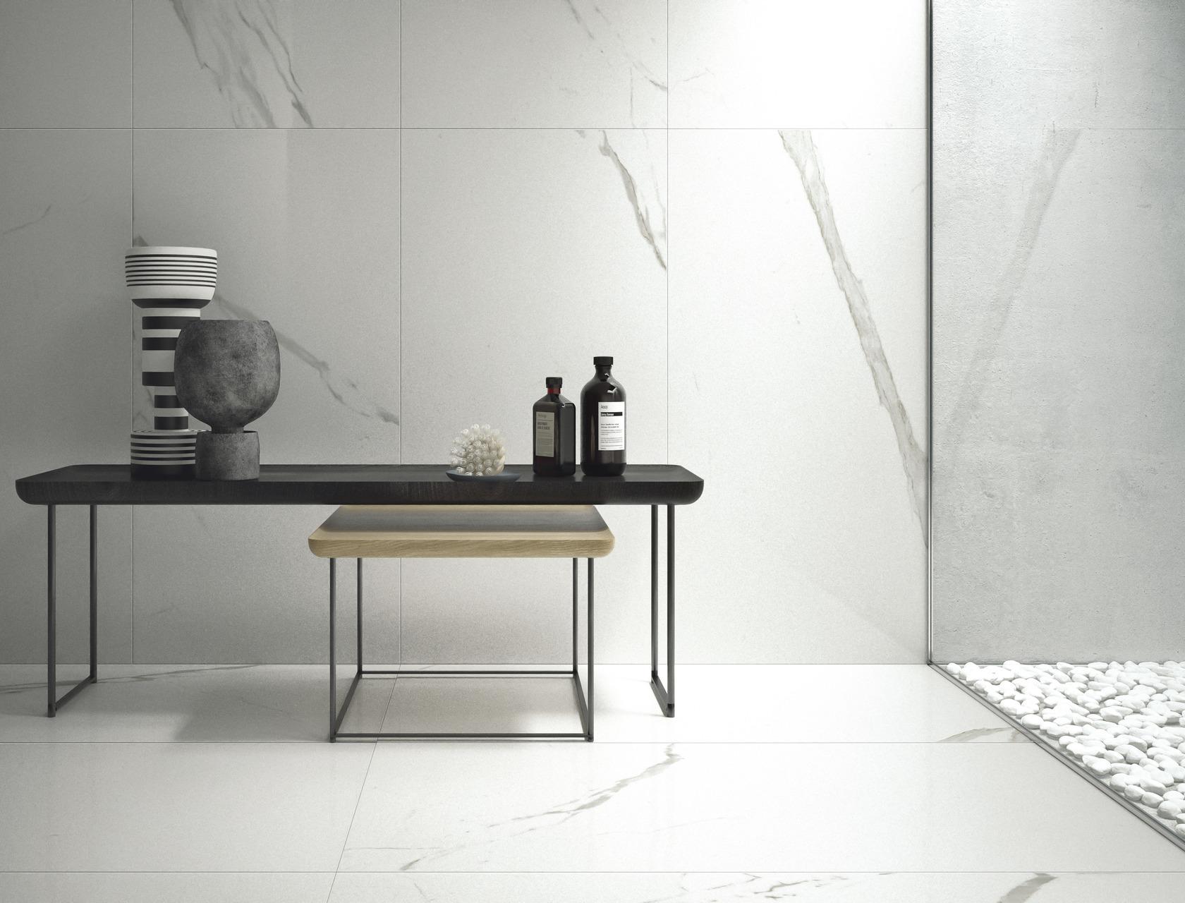 Piastrelle in gres porcellanato bianco statuario classico marmi classici - Piastrelle gres porcellanato effetto marmo ...