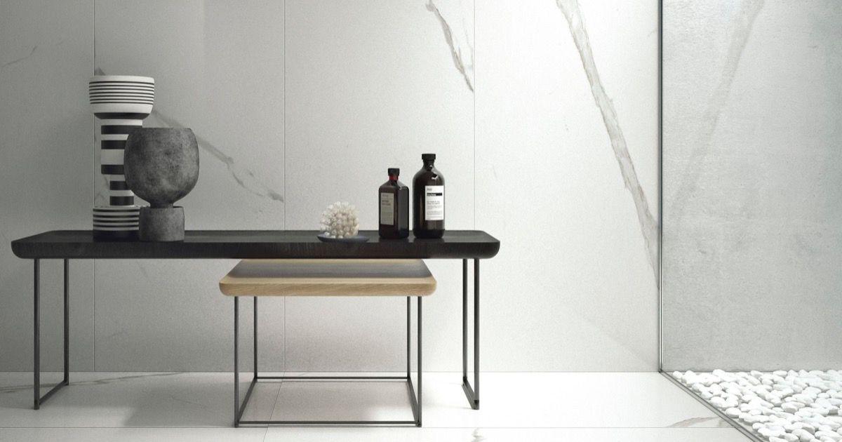 Piastrelle in gres porcellanato bianco statuario classico - Posa piastrelle 120x60 ...