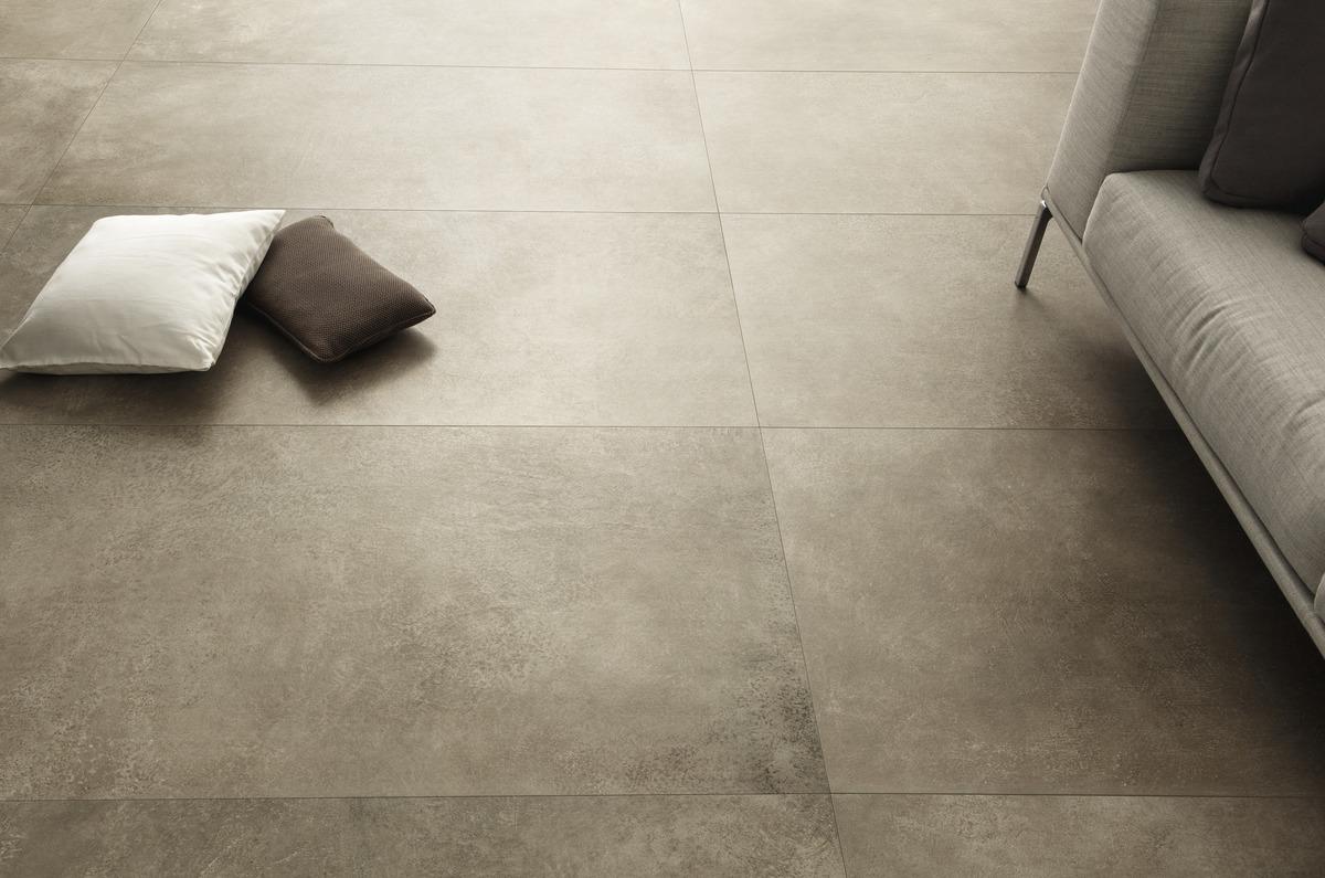 Pavimenti In Cemento Resina : Fango piastrelle in grandi formati effetto pietra
