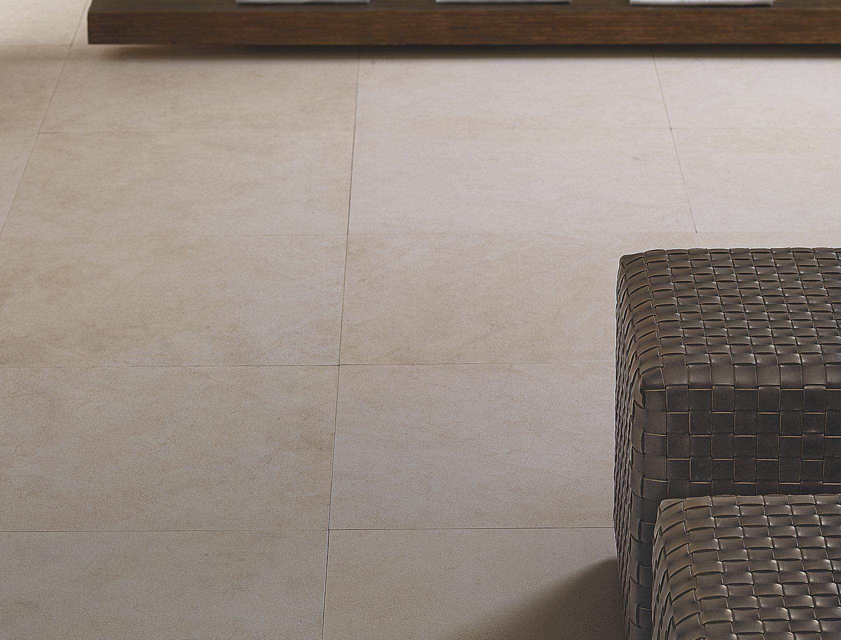 Crema europa piastrelle per pavimento chiaro effetto pietra - Gres effetto pietra ...