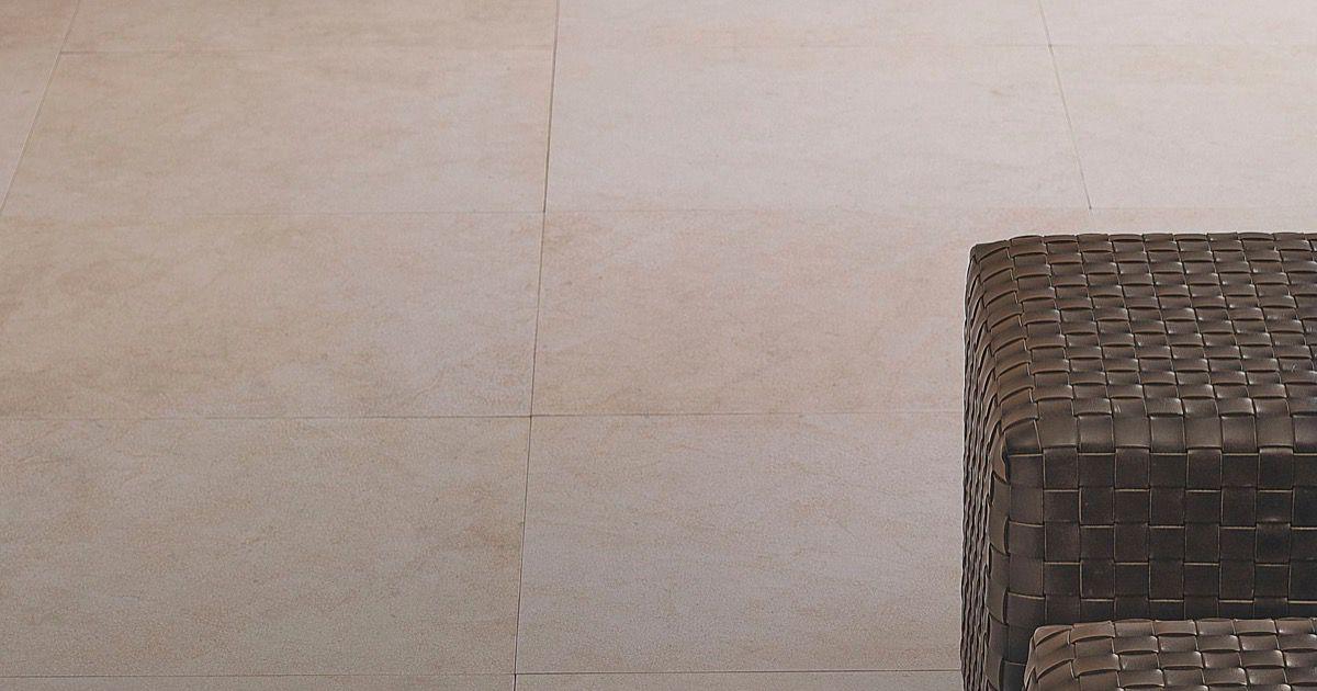 Crema europa piastrelle per pavimento chiaro effetto pietra - Posa piastrelle 120x60 ...