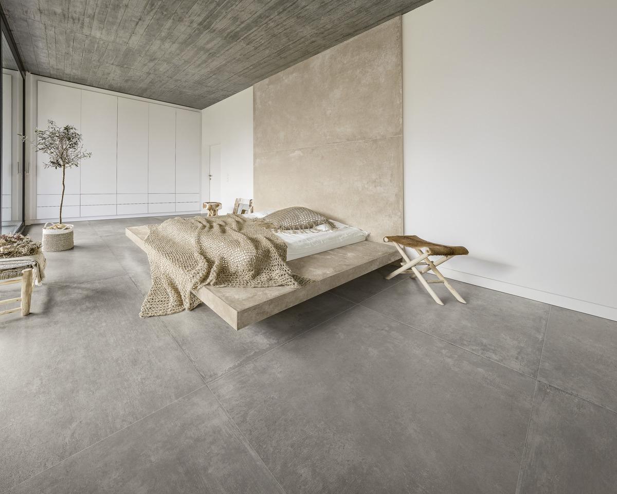 Pavimenti In Cemento Resina : Cloud ultra con crea grandi lastre effetto cemento resina grigio